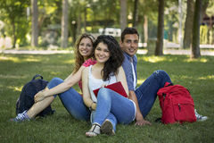Teenage students. A group of smiling teenage students Royalty Free Stock Images