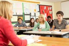 Teenage Students Studying Stock Photos