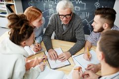 Listening to teacher royalty free stock images