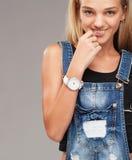 Teenage stylish girl Stock Photos