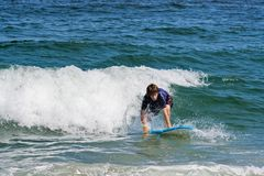 Teenage Surfer Stock Images