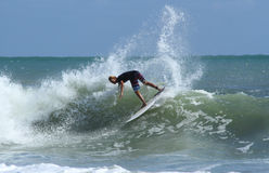 Teenage surfer at Bali Stock Photos