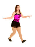 Teenage Tap Dancer. Bright Teen Tap Dancer in Pink Royalty Free Stock Photography