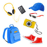 Teenage things, accessories Royalty Free Stock Photo