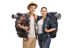 Teenage tourists Royalty Free Stock Photography