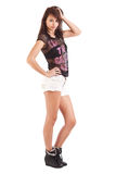 Teenage wearing shorts Royalty Free Stock Photo