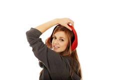 Teenage woman listening to music Stock Photo