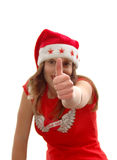 Teenage woman Santa Claus Royalty Free Stock Photos