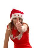 Teenage woman Santa Claus royalty free stock photos