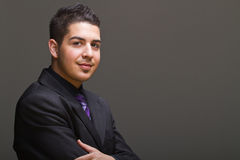 Teenaged businessman ready to rock the world Stock Images
