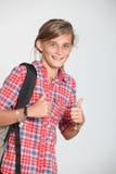 Teenaged girl. Closeup of smiling young teenager Stock Photos