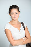 Teenaged girl. Closeup of smiling young teenager Royalty Free Stock Image