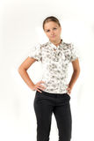 Teenager. The very young lovely girl in a blouse Stock Images
