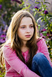 Teenager. Portrait of a beautiful teenager girl outdoor Stock Photo