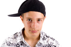 Teenager. Isolated on a white backround Royalty Free Stock Image