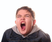 Teenager. Boy isolated on white background Stock Images