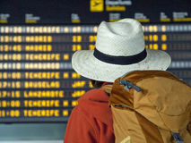 Teenager in the airport Royalty Free Stock Photos