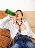 Teenager in Alcohol Addiction Stock Photo