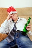 Teenager in Alcohol addiction Royalty Free Stock Photography