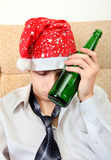 Teenager in Alcohol addiction Royalty Free Stock Image