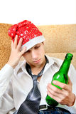 Teenager in Alcohol addiction Royalty Free Stock Images