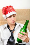 Teenager in Alcohol addiction Stock Photography