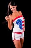 Teenager americano sexy Immagini Stock Libere da Diritti