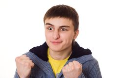 Teenager and is angry at white Stock Images
