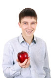 Teenager with Apple Royalty Free Stock Photo
