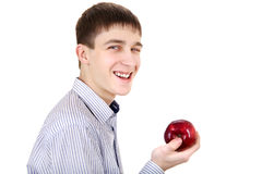 Teenager with Apple Stock Images