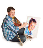 Teenager artist Stock Photo
