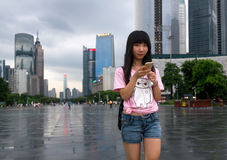 Teenager Asian girl in Guangzhou, China Royalty Free Stock Images