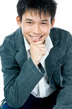 Teenager asiatico astuto felice immagine stock libera da diritti