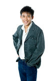 Teenager asiatico felice Fotografia Stock