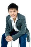 Teenager asiatico felice fotografia stock libera da diritti