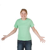 Teenager asking for decision Royalty Free Stock Photo