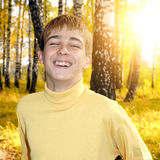 Teenager in the Autumn Park Royalty Free Stock Images