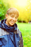 Teenager in Autumn Park Royalty Free Stock Images