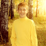 Teenager in Autumn Park Stock Images