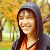 Teenager in Autumn Park Royalty Free Stock Photography