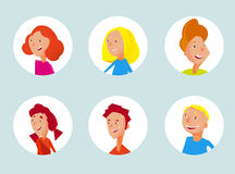 Teenager avatars collection Royalty Free Stock Photography