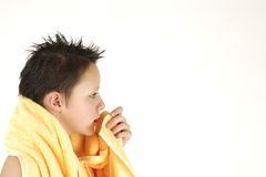 Teenager in Bath Stock Photo