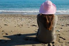 Teenager on the beach Stock Photos