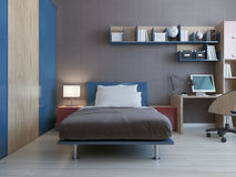 Teenager bedroom interior Stock Photography
