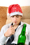 Teenager with a Beer Stock Photography