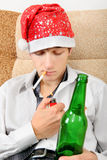 Teenager with a Beer Stock Images
