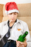 Teenager with a Beer Royalty Free Stock Images