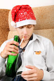 Teenager with a Beer Royalty Free Stock Photo
