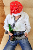 Teenager with a Beer and Tablet Stock Photography
