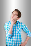 Teenager being doubtful or thinking about something. Royalty Free Stock Photo